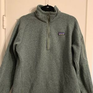 Patagonia women's XL 3/4 forest green zip up